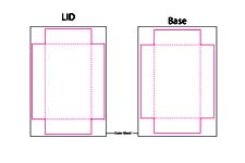bridge size two part box template
