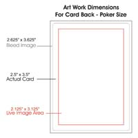 poker size card back template