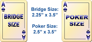 Poker card dimensions